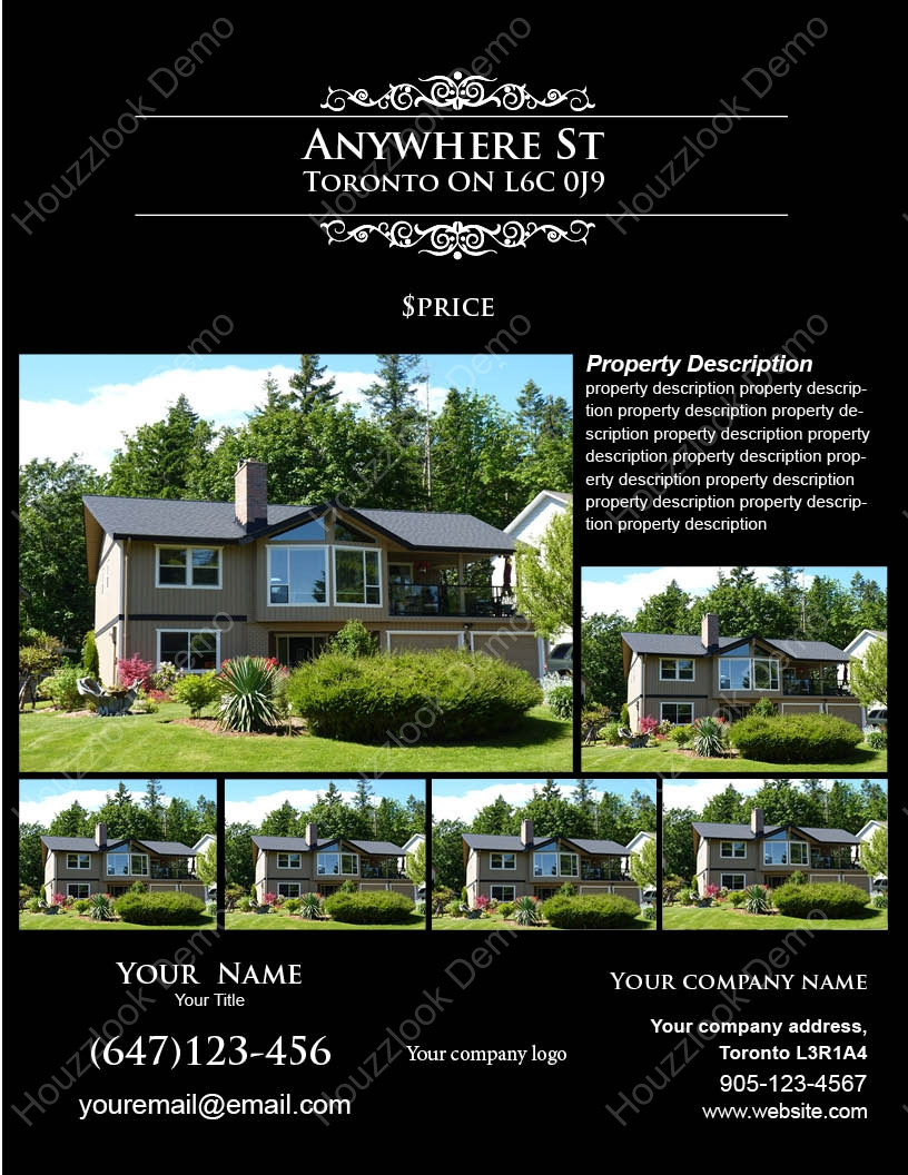 Housslook for Real estate feature sheet template free