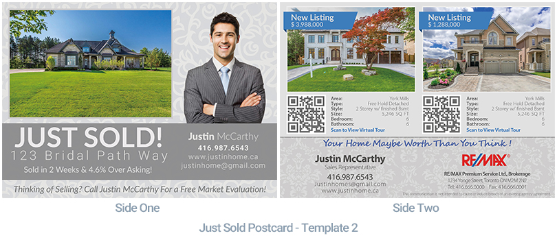 Real Estate Postcard Just Sold - Housslook